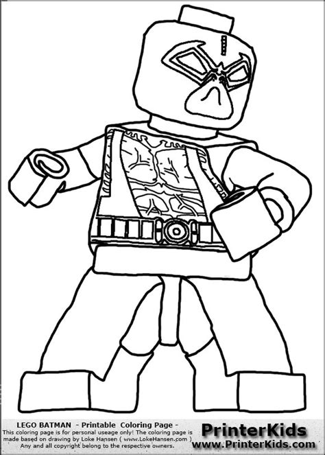 Lego Batman Bane Coloring Pages | color pages for batman s villians lego lego batman bane