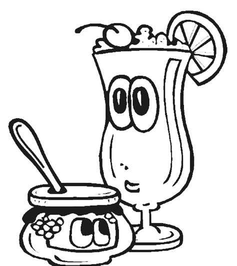 Free Coloring Pages Of Healthy Meal Snack Coloring Pages