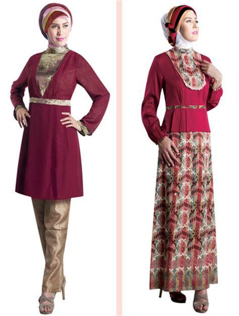Baju Muslim Modern 2015 contoh gambar model baju muslim brokat untuk wanita muslimah