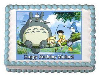 Cupcake Of The Week My Edible Totoro by Harley Davidson Edible Birthday Cake Image Cupcake