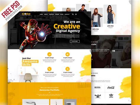 Creative Agency Portfolio Website Psd Template Creative Portfolio Website Templates