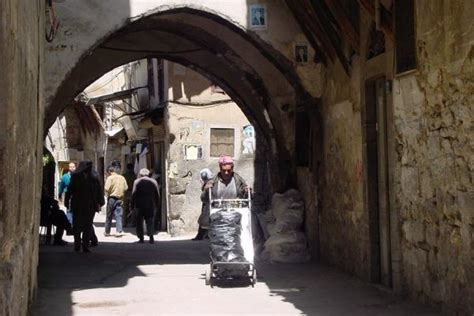 old damascus syria winding alley damascus old city damascus travel
