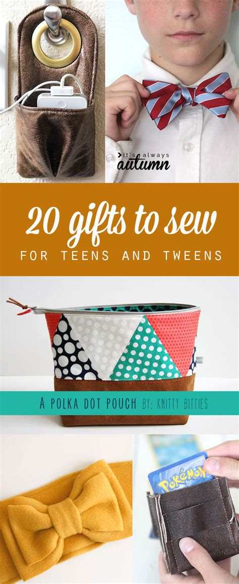 sweet christmas presents for teen boys 20 gifts to sew for that they ll actually like a giveaway it s always autumn