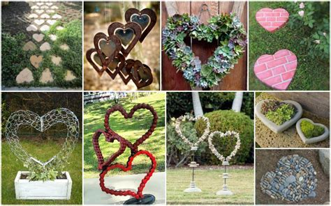 Amazing Heart Shaped Garden Decorations You Will Fall In