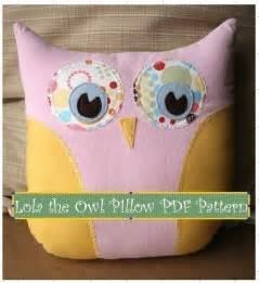 lola the owl pillow pdf pattern simple creative