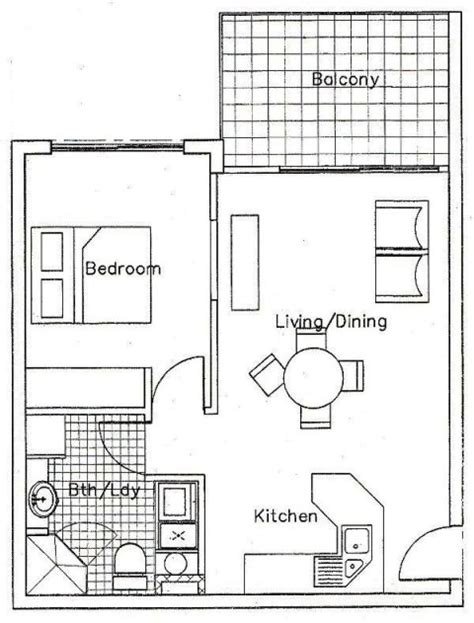 one bedroom efficiency apartment plans one bedroom apartment floor plan myideasbedroom com