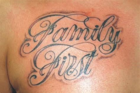 family first chest tattoo family