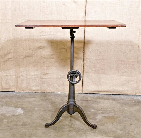 cast iron drafting table base vintage cast iron articulating tripod base drafting table
