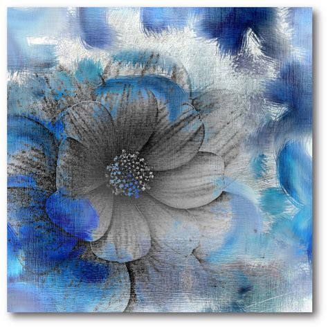 Canvas Flower 16 16 in x 16 in quot blue flower quot canvas wall web sb177