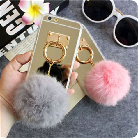 Softcase Ring Holder Clear Metal Mirror For Iphone 6 Plus mirror 3d warm fuzzy fluffy fur metal ring cover