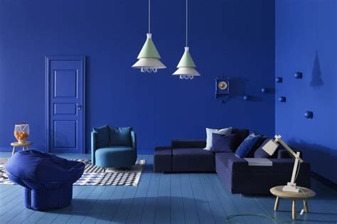 Blue Room by Pantone Fashion Color Series Dazzling Blue California Home Design