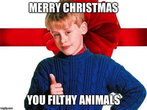 Merry Christmas You Filthy Animal Meme - home alone imgflip