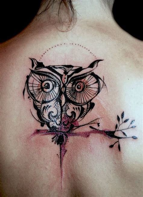 abstract owl tattoo 45 cool abstract tattoos