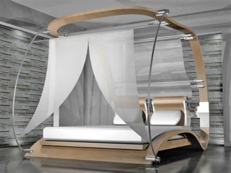 himmelbett gardinen 50 coole ideen f 252 r himmelbetten aus holz im schlafzimmer