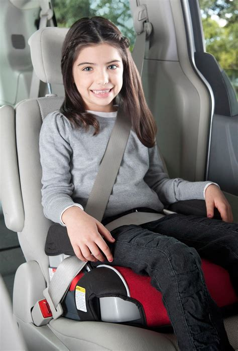 can child ride in front seat with booster view larger