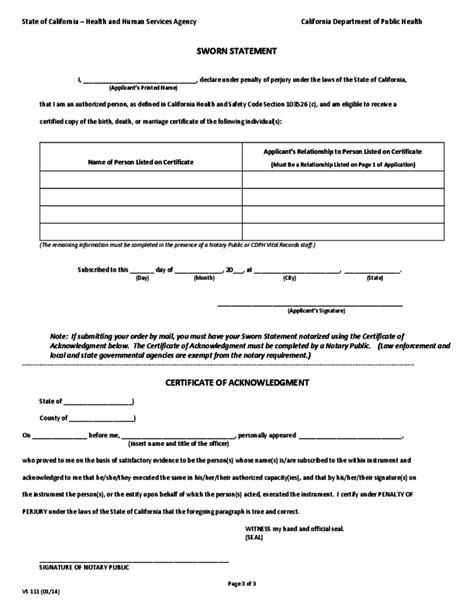 birth certificate affidavit format cic oopnp com birth certificate affidavit california image collections