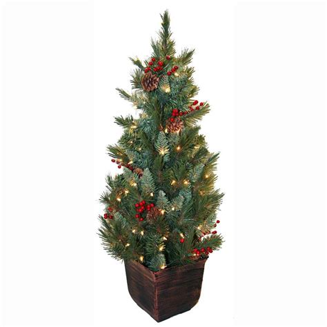 general foam 4 ft pre lit pine artificial christmas tree