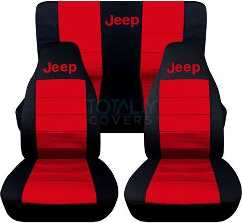 2004 Jeep Wrangler Seat Covers Jeep Wrangler Yj Tj Jk 1987 2017 2 Tone Seat Covers W Logo