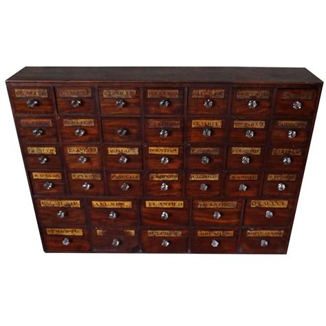 Apothecary Drawers Uk by Antique Mahogany Apothecary Cabinet Bank Of Drawers
