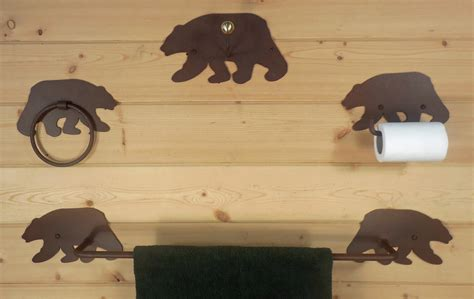 bear bathroom black bear bath accessories colorado dallas