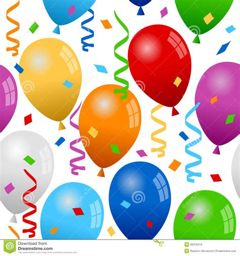 Balloons and confetti seamless pattern stock photo image 36318410 bdtzf9 clipart suggest