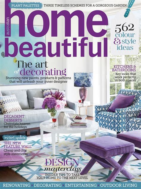 home decor magazine 72 best home beautiful covers images on pinterest a