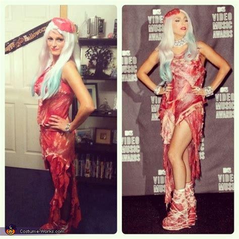 lady gaga meat dress costume photo