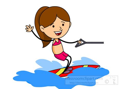 boat dog cartoon water sports clipart wake boarding water sports clipart
