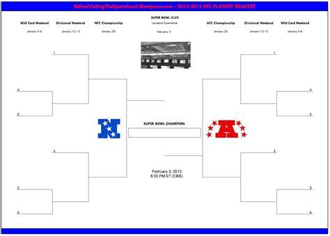 printable nfl playoff schedule bracket 8 best images of nfl brackets printable blank nfl