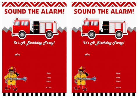 1000 Images About Fireman Printables On Pinterest Firefighter Invitation Templates