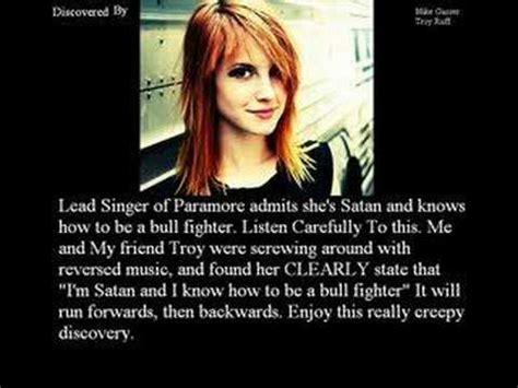 hayley williams illuminati lead singer of paramore admits shes satan coincidence