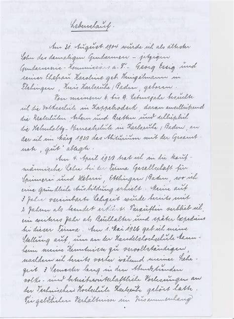 Handschriftlicher Lebenslauf Muster by Handschriftlicher Lebenslauf Inhalt Und Aufbau