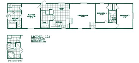 3 bedroom mobile home floorplans photos oak creek manufactured homes