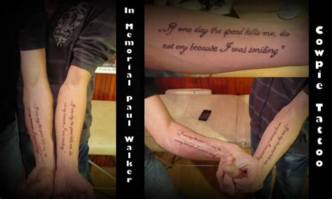 paul walker wrist tattoo pin hu fast and furious paul walker photo joela gallery