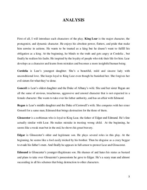 King Lear Essay by Quot King Lear Quot Psychoanalytic Criticism