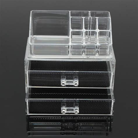 Miniso Makeup Brush Luxury acrylic organizer with drawers outad clear