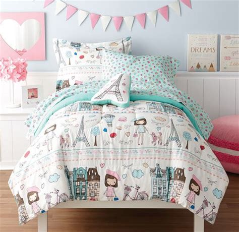 walmart paris bedding mainstays kids paris bed in a bag bedding set walmart canada