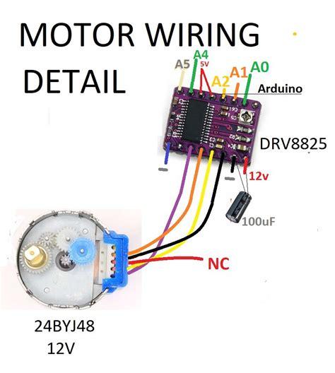 arduino code drv8825 drv8825 driver stepper motor 24byj48 jungletronics