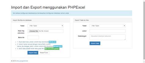 simple codeigniter exle source code import dan export dengan phpexcel dan