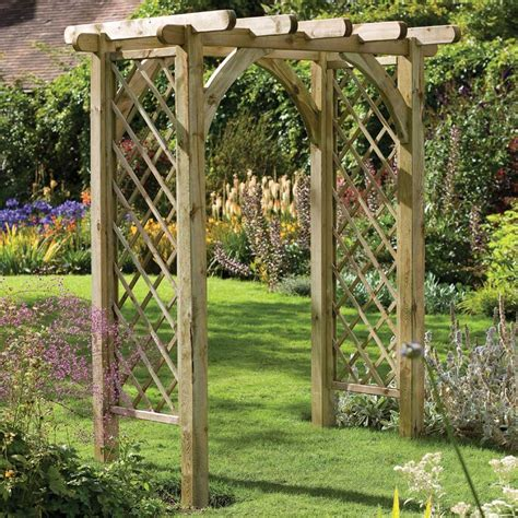 Backyard Trellis by Forest Garden Ultima Pergola Arch Trellis Sides Pressure Treated Fsc