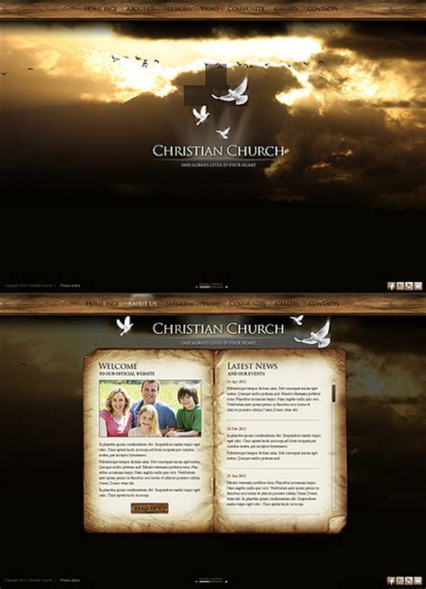 Download Free Software Free Website Template Church Frontpage Sugarbackup Christian Church Website Templates Free
