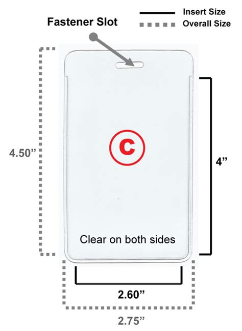 badge size template 5 clear vinyl badge holder id card 4 sizes available ebay