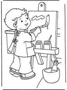 painting on canvas children coloring page