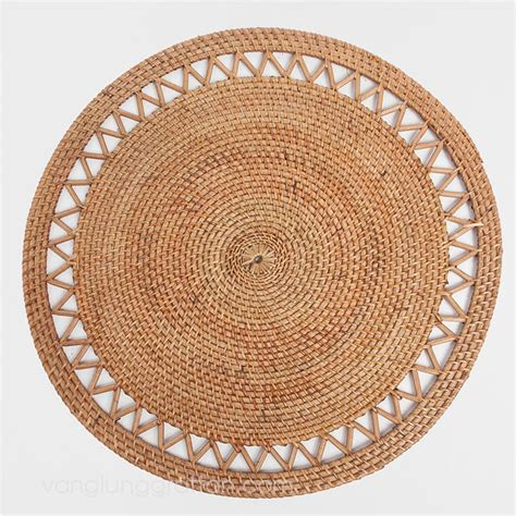 Rattan Place Mats by Bamboo Rattan Placemat Napkin Rings Charger Plate