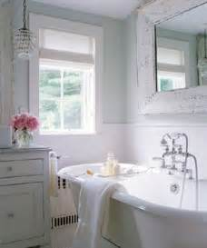 Cottage Style Mirrors Bathrooms by Whitewashed Mirror Cottage Bathroom