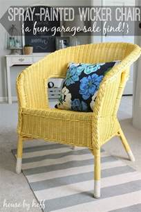 spray paint wicker furniture 30 thursday a spray painted wicker chair house by hoff