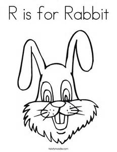 r is for rabbit coloring page twisty noodle