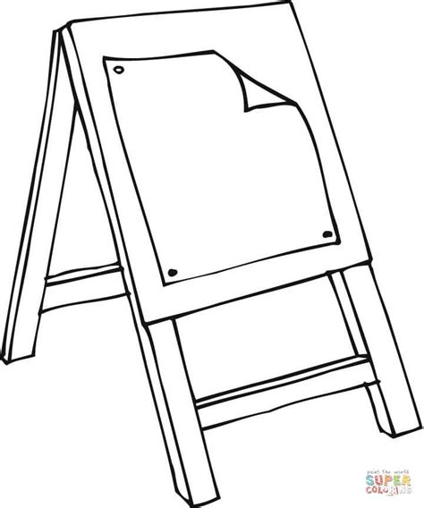 art easel coloring page an art class easel coloring page free printable coloring