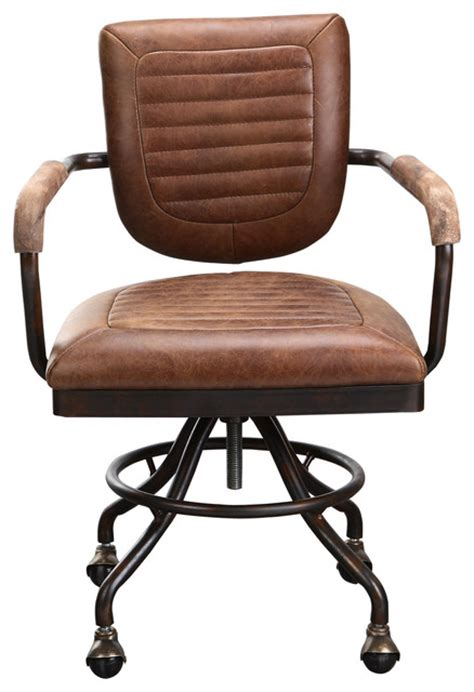 industrial desk chair foster desk chair soft brown industrial office chairs