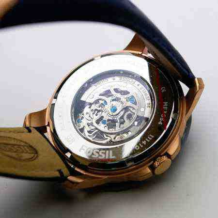 Jam Fossil Gaban Leather Murah by Jual Fossil Me3054 Grant Automatic Navy Leather Baru